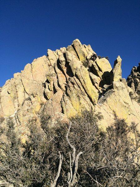 Rock Climbing Photo: This photo shows Michael Briseno directly above th...