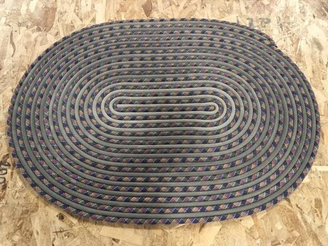 Rock Climbing Photo: Turned two old ropes into a new rug for a customer...