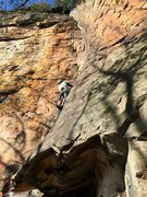 Rock Climbing Photo: 2/6/16 On my way to take a nice whipper off the to...