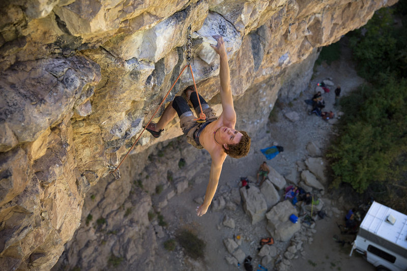 Photo: Tyler Casey.<br> <br> Climber: Will Sharp.