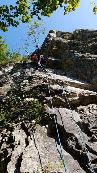 Rock Climbing Photo: Jo on lead