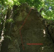 Rock Climbing Photo: Oardeal of the Boats Route Map