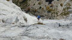 Rock Climbing Photo: Beginning of pitch 3.