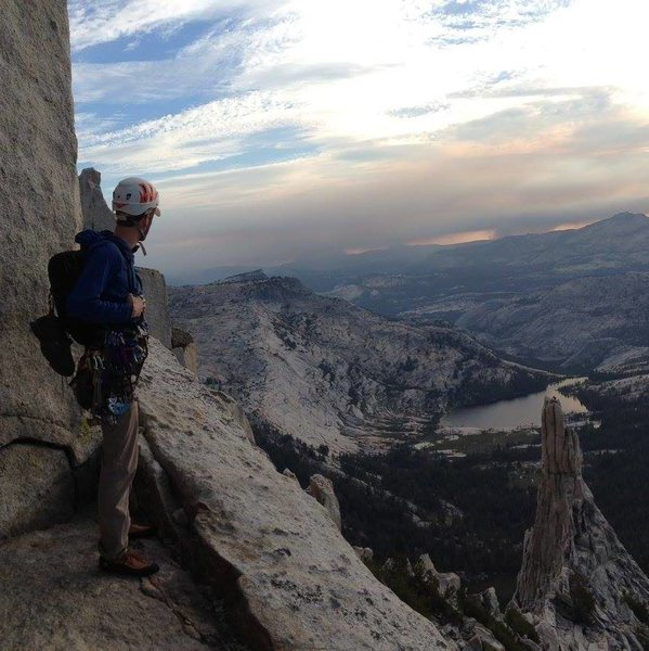 Rock Climbing Photo: Descending from Cathedral Peak