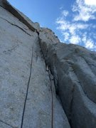 Rock Climbing Photo: Dmitriy styling the superb changing corner on P1