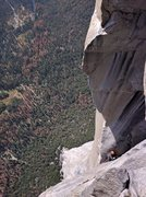 Rock Climbing Photo: The Alcove pitch.  One pitch from the top.  Photo ...