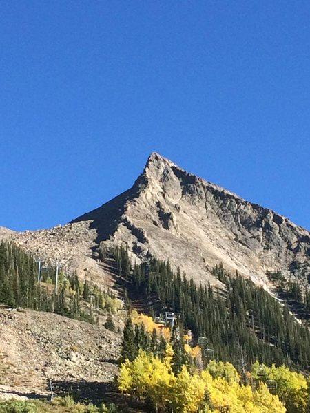 Rock Climbing Photo: GR is left obvious ridgeline.