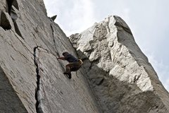 Rock Climbing Photo: Crux of Wages of Skin