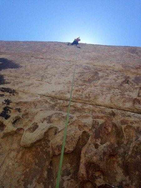 Rock Climbing Photo: Finishing up ledges to lawndale