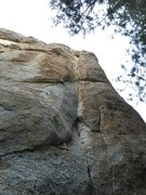 Rock Climbing Photo: Follows weakness then moves left