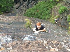 Rock Climbing Photo: Eric Krause leading Pinnacle on 9/21/2016