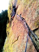 Rock Climbing Photo: Pitch 4 Rewritten, ELDO Canyon