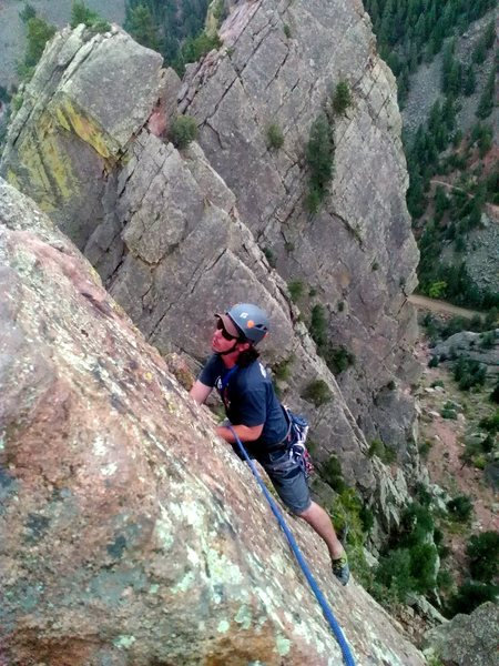 Rock Climbing Photo: Pitch 6, Rewritten, Eldo