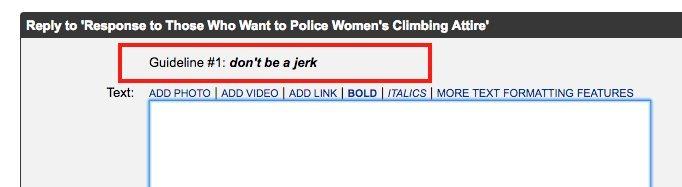 Rock Climbing Photo: Don't be a jerk.