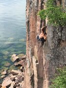 Rock Climbing Photo: Sending sweat pants.
