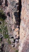 Rock Climbing Photo: Leading Quetico Crack!