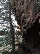 Rock Climbing Photo: Looking back toward Redguard.