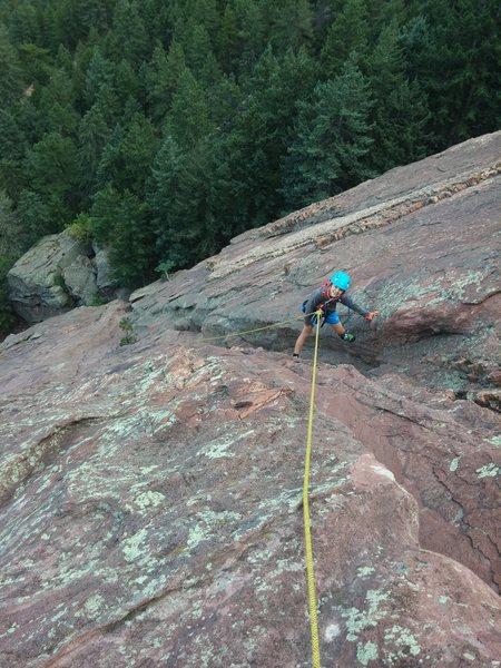 Rock Climbing Photo: Kane (8) flashing Direct.