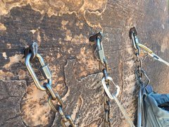 Rock Climbing Photo: Top old anchor.