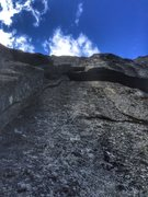 Rock Climbing Photo: The roof, oh so good. Fun climbing up to it as wel...