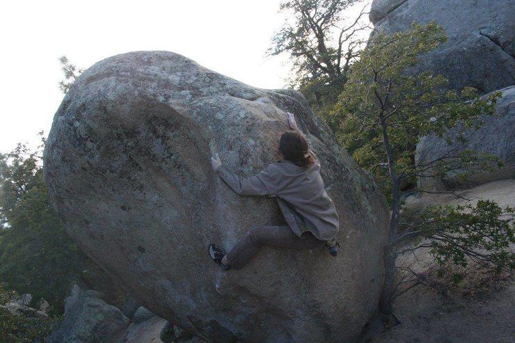 Rock Climbing Photo: slap dat rock!