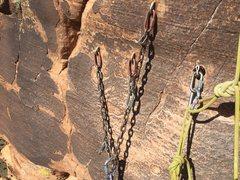 Rock Climbing Photo: New top anchor.