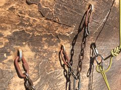 Rock Climbing Photo: New top anchor with old pin left intact.