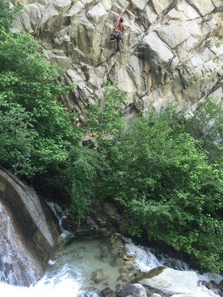 Rock Climbing Photo: Establishing the 40th loss after my 40th trip arou...