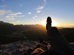 Rock Climbing Photo: on top of lembert