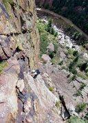 Rock Climbing Photo: Following Goran on Rupert in Eldo