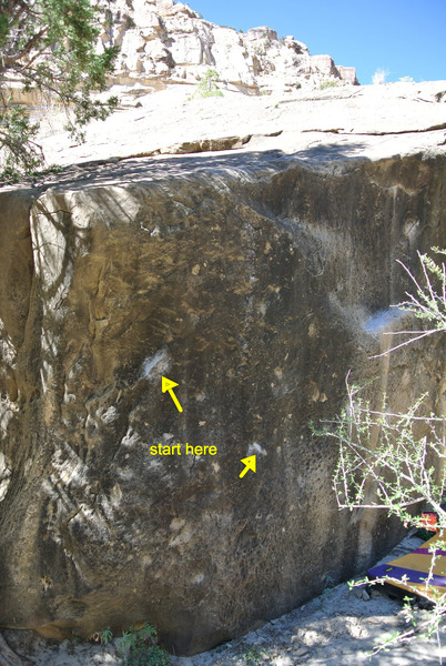 "Rock Climbing Photo: The ""Gutter Ball"" V3ish."