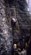 Rock Climbing Photo: My brother and I dressed for success doing a warm ...