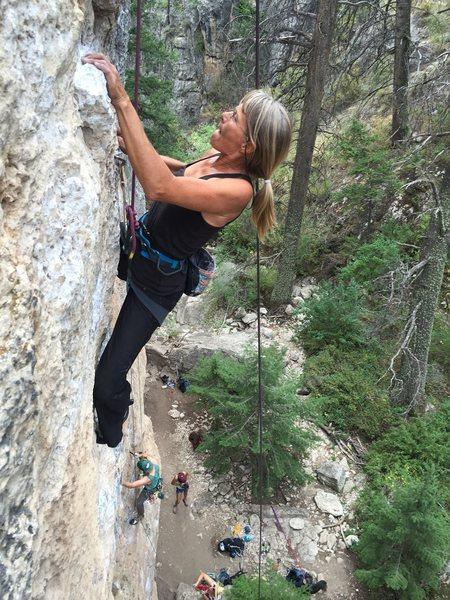 Rock Climbing Photo: An unknown climber who was making her way up Circu...