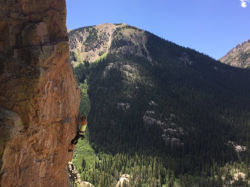 unknown climber on Glory Hole 5.12a
