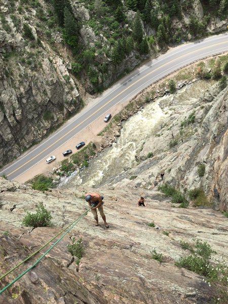 Rock Climbing Photo: Headed down Playin Hookie 5.8? it was my first mul...