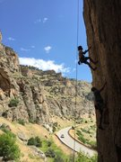 Rock Climbing Photo: Unknown climber on Character Witness 5.11a