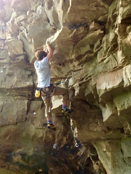 Rock Climbing Photo: On the bottom start of the roof. There's no ne...