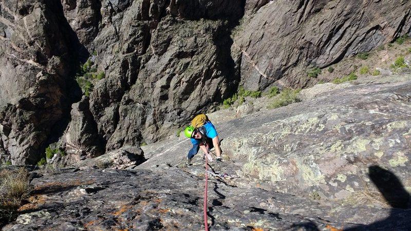 Rock Climbing Photo: Following pitch 5 cracks. Super fun.