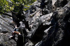 Rock Climbing Photo: The only shot from the FA (photographer had to lea...