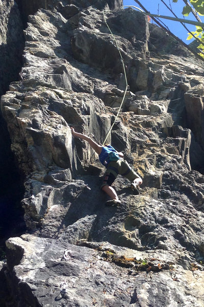 torie in the 1st crux which starts the business of the route.