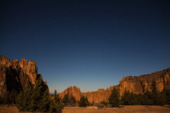 Rock Climbing Photo: View from the campgrounds at night time