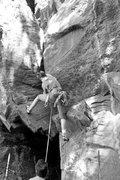 Rock Climbing Photo: the first verse of the Gospel