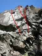 Rock Climbing Photo: 3 more 10- variations left of the route.  These ca...