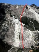Rock Climbing Photo: The farthest left 5.10 variation that can be reaso...