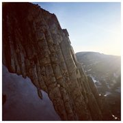 Rock Climbing Photo: Marie's Couloir, Snowy Range, Wy