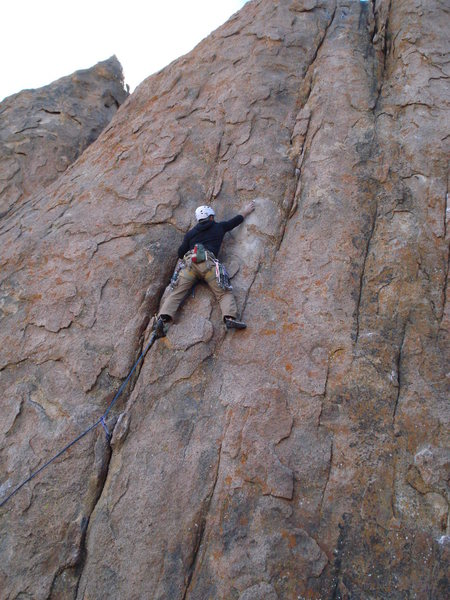 "Rock Climbing Photo: Darren  on the F.A. of "" Wonderboy """