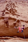 Rock Climbing Photo: Fun times on the first roof crux, but smooth saili...