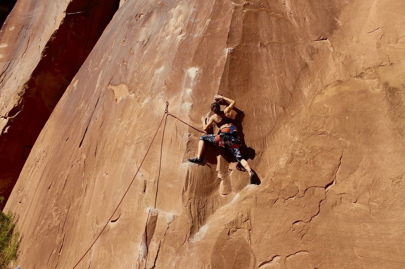 Crux for shorter folks is definitely in the first few bolts. Fun route!