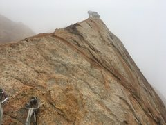 Rock Climbing Photo: Will looking sic. Pic taken from hanging belay ato...