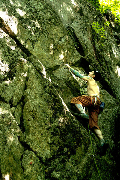 Rock Climbing Photo: Fun climbing over interesting holds and features.